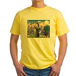 St Francis / Rottweiler Yellow T-Shirt