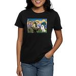 St Francis & Samoyed Women's Dark T-Shirt