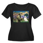 St Francis & Samoyed Women's Plus Size Scoop Neck