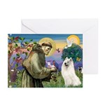 St Francis & Samoyed Greeting Cards (Pk of 10)