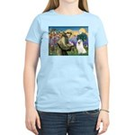 St Francis & Samoyed Women's Light T-Shirt