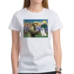 St Francis & Samoyed Women's T-Shirt