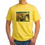 St Francis & Samoyed Yellow T-Shirt