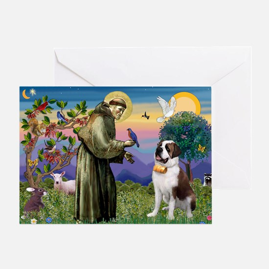 St. Francis/ St. Bernard Greeting Card