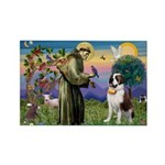 St. Francis/ St. Bernard Rectangle Magnet