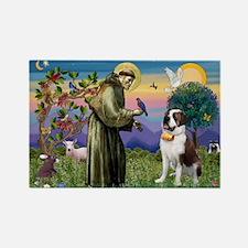 St. Francis/ St. Bernard Rectangle Magnet