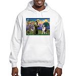 St. Francis/ St. Bernard Hooded Sweatshirt