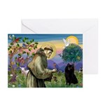 St Francis / Schipperke Greeting Cards (Pk of 10)