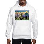 St Francis / Schipperke Hooded Sweatshirt