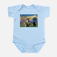St Francis / Schipperke Infant Bodysuit