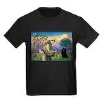 St Francis / Schipperke Kids Dark T-Shirt