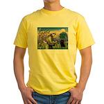 St Francis / Schipperke Yellow T-Shirt