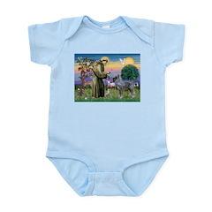 St Francis PS Giant Schnauzer Infant Bodysuit