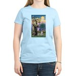 St Francis & Schnauzer (#5) Women's Light T-Shirt