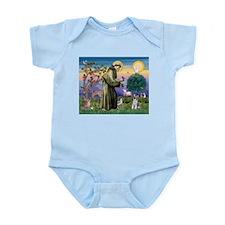 St Francis & Schnauzer (#5) Infant Bodysuit