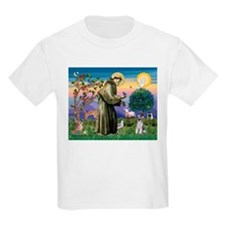 St Francis & Schnauzer (#5) Kids T-Shirt