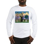 St Francis & Schnauzer (#5) Long Sleeve T-Shirt