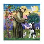 St Francis & Husky Tile Coaster