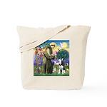 St Francis & Husky Tote Bag