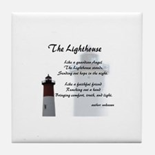 Cute Lighthouse Tile Coaster