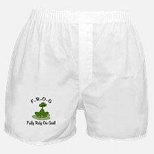 FROG Fully Rely on God Boxer Shorts