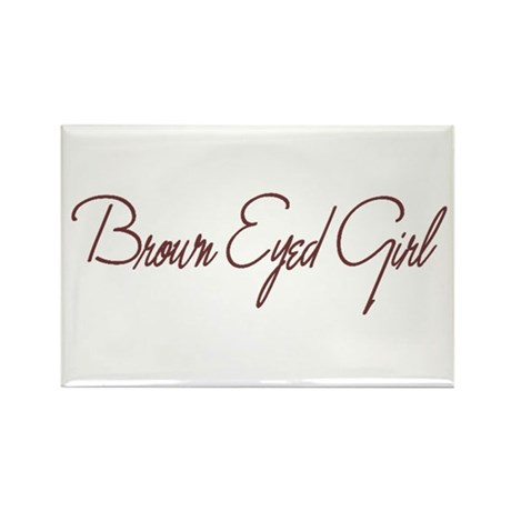 Brown Eyed Girl Rectangle Magnet (100 pack)