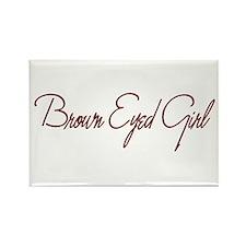 Brown Eyed Girl Rectangle Magnet