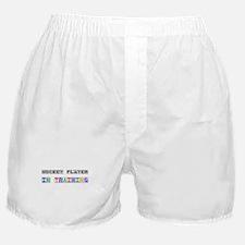 Hockey Player In Training Boxer Shorts