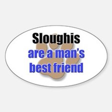 Sloughis man's best friend Oval Decal