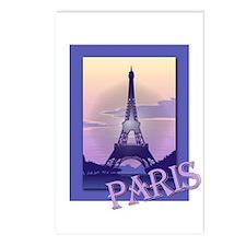 Paris Eiffel Tower Postcards (Package of 8)
