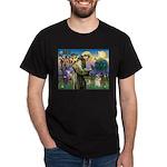 St Francis /Welsh Corgi (p) Dark T-Shirt