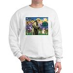 St Francis /Welsh Corgi (p) Sweatshirt