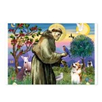 St Francis /Welsh Corgi (p) Postcards (Package of