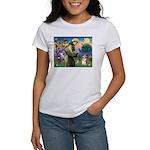 St Francis /Welsh Corgi (p) Women's T-Shirt