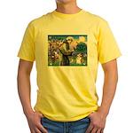 St Francis /Welsh Corgi (p) Yellow T-Shirt