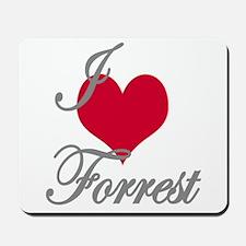I love (heart) Forrest Mousepad