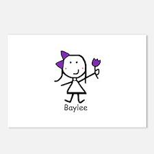 Purple Flower - Baylee Postcards (Package of 8)