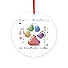 PBGV Name2 Ornament (Round)