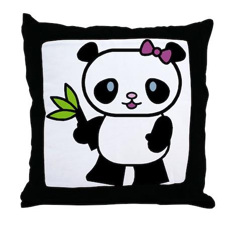 Cute Panda Pillow : Cute Lil Panda Throw Pillow by doonidesigns