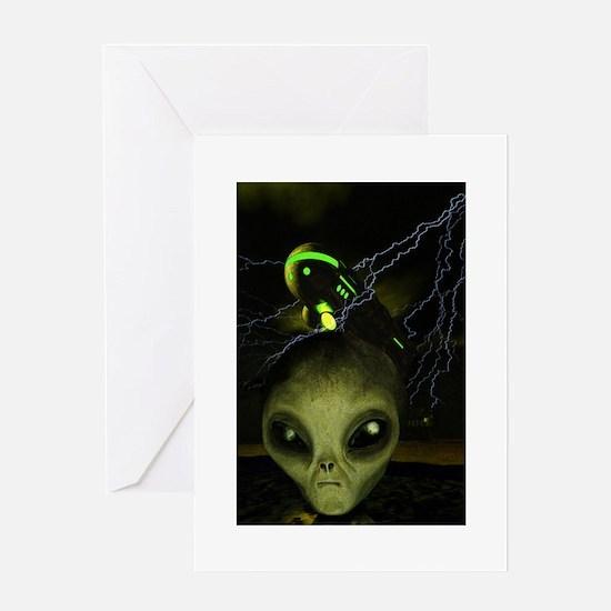UFO Mothership Greeting Card