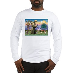 St Francis / Whippet Long Sleeve T-Shirt