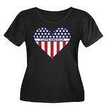 I Love America Women's Plus Size Scoop Neck Dark T