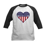 I Love America Kids Baseball Jersey