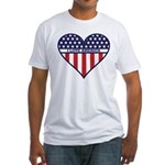 I Love America Fitted T-Shirt