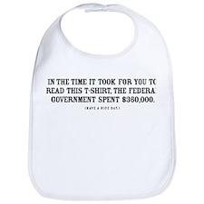 Spending Shock Shirt Bib