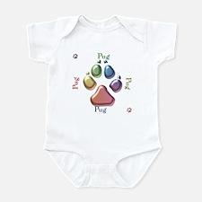 Pug Name2 Infant Bodysuit