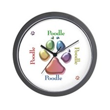 Poodle Name2 Wall Clock