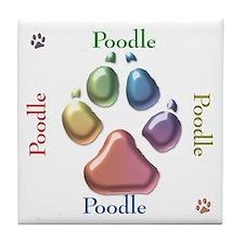Poodle Name2 Tile Coaster