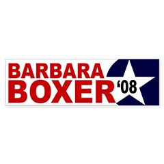 Barbara Boxer '08 star bumper sticker