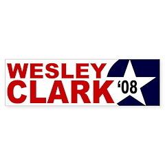 Wesley Clark '08 star bumper sticker